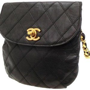 Chanel Quilted Lambskin Chain Waist Pouch Fanny